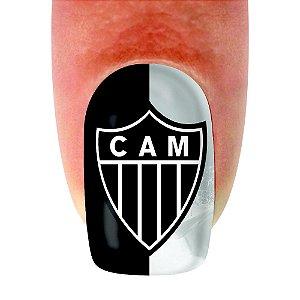 Adesivo de Unha Time 15 Atletico Mineiro- 12un
