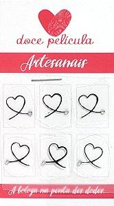Adesivo de Unha Trio Artesanal 23 - 6un