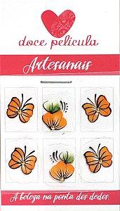 Adesivo de Unha Trio Artesanal 40 - 6un