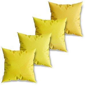 Kit 4 Capas de Almofadas Decorativa Meios Tons Amarelo