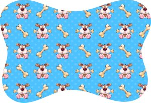 Tapete Decorativo Osso Pet Cachorrinho e Osso