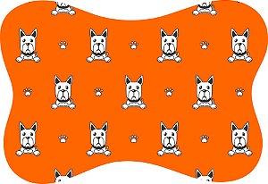 Tapete Decorativo Osso Pet Cachorrinho Fundo Laranja