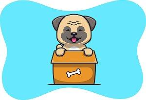 Tapete Decorativo Osso Pet Cachorrinho Língua