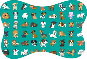Tapete Decorativo Osso Pets