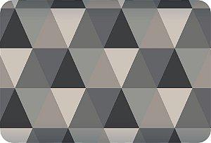 Tapete Individual Para Cozinha Triângulos Cinza