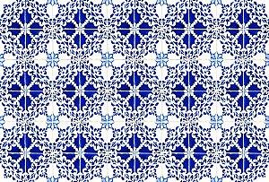 Tapete Individual Para Banheiro Formas Azuis