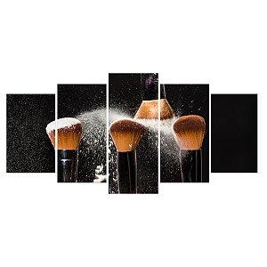 Quadro Decorativo Quatro Pincéis 129x61cm Sala Quarto