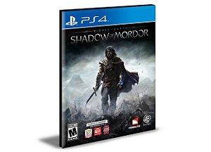 Middle Terra-média Sombras de Mordor Inglês PS4 e PS5 PSN MÍDIA DIGITAL