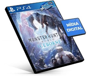 Monster Hunter World + DLC Iceborne PS4 e PS5 PSN MÍDIA DIGITAL