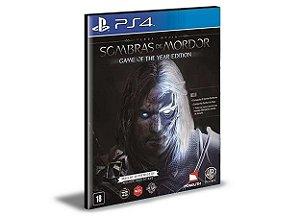 Terra-média Sombras de Mordor EDIÇÃO JOGO DO ANO Português PS4 e PS5 PSN  MÍDIA DIGITAL