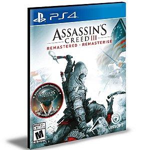 Assassin's Creed 3 III Remastered Ps4 e Ps5 Psn|Mídia Digital
