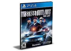 Street Outlaws The List  Ps4 e Ps5 Psn   Mídia Digital