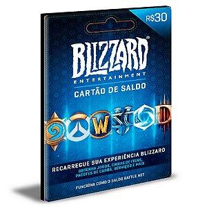 Cartão Battle.Net R$ 30 Reais