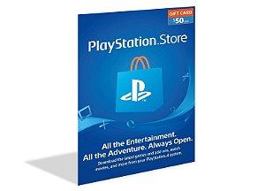 Cartão Playstation Psn $50 Dólares - Usa