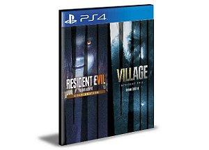 Pacote Completo Resident Evil Village 8 & Resident Evil 7 PS4 Psn Mídia Digital