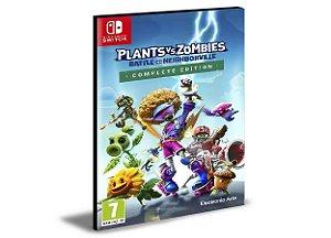 Plantas vs Zombies Batalha por Neighboring Português Nintendo Switch  Mídia Digital
