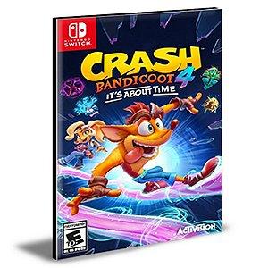 Crash Bandicoot 4 It's About Time NINTENDO SWITCH Mídia Digital