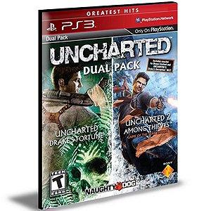 Uncharted 1 E 2 Dual Pack PS3 PSN  MÍDIA DIGITAL