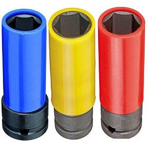 Jogo Soquete De Impacto 1/2 17 A 21mm Gedore Red R63043003