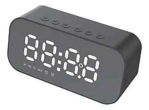 Caixa de Som Bluetooth com Relógio Alarme Durawell SPK-B015
