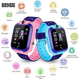 Relógio SmartWatch Infantil com GPS Câmera e SOS