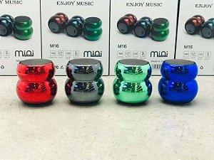 Mini Caixa de Som Portátil Bluetooth 3W H'Maston M16