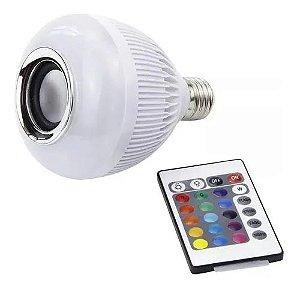 Lâmpada Caixa de Som Bluetooth com LED