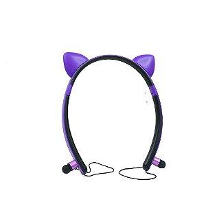 Fone de Ouvido Wireless Orelha de Gato In-Ear ZW-29