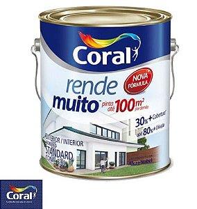 Tinta Acrílica Rende Muito Branco 3.6L - Coral