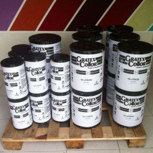 Grafiato 25Kg Branco Gratex Collor