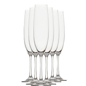 Jogo com 6 - Taça Champagne e Espumantes Cristal Bohemia 250ml