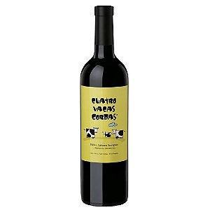 """Vinho Tinto """"Cuatro Vacas Gordas """" Blend 2017"""