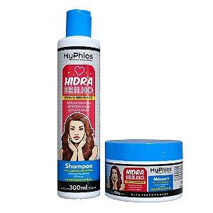 Kit Shampoo e Máscara Hidra Brilho - MyPhios