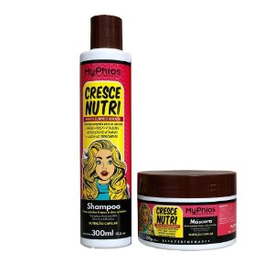 Kit Shampoo e Máscara Cresce Nutri - MyPhios