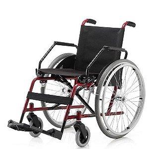 Cadeira De Rodas Cantu Epoxi Adto 42 Vinho.