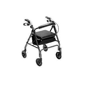 Andador 4 rodas Com Freio Bronze