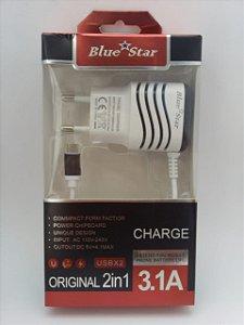 10 Carregadores Turbo Micro USB V8 - Atacado