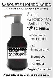 Sabonete Líquido Ácido Glicólico 10% + Salicílico 5% 100 ml