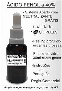 Kit Ácido Fenol a 40% (peeling pele clara) Neutralizante 2 vidros 30 ml