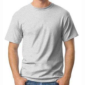 Camiseta Mescla de Poliéster para Sublimação Gola Redonda Adulto GG