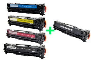 Kit 4 Toner HP CP2025 CMYK + Toner HP CC530A | 32A Black Compativel