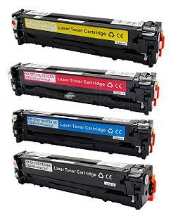 Kit 4 Toner HP CM1415 | CP1525 | CE320A | CE321A CMYK Compativel