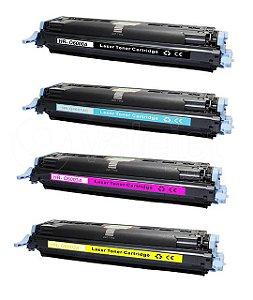 Kit 4 Toner para HP 2600N | 2600 | Q6000A | Q6001A CMYK Compatível