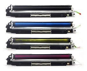 Compatível: Kit de 4 Toners para HP M176n | M177FW | CF350A CMYK