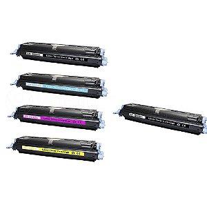 Kit 4 Toner HP 2600   Q6000A CMYK + Toner HP Q6000A Black Compatível
