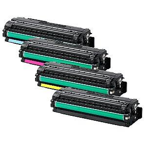 Kit 4 Toners para Samsung CLP680 | CLT506L | CLX6260 CMYK Compatível 3,5K