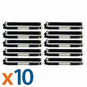 Kit 10 Toners para HP CP1025 | M175NW | CE310A | 126A Black Compatível