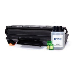 Kit Toner e Chip + Refil 70g Valejet para HP 278a | P1606 Compatível