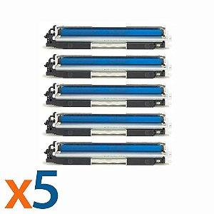 Kit 5 Toners para HP CP1025 | M175NW | CE311A | 126A Cyan Compatível