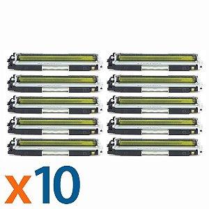 Kit 10 Toners para HP CP1025 | M175NW | CE312A | 126A Yellow Compatível